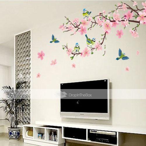 Romantisk cherry blossom formet soveværelse / stue / tv baggrund ...