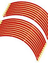 conjunto de 10 milímetros carro vermelho da borda da roda fita reflexiva etiqueta tarja decalque