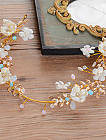 Bride's Colorfull Flower Shape Wedding Hair Accessories Headbands Headpieces 1 Piece