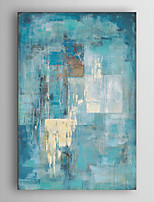 Hand Painted Oil Painting Abstract Indigo Wall with Stretched Frame 7 Wall Arts®