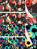 Flower Painting Nail Art Water Decals Transfer Sticker BORN PRETTY