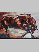 Large Hand Painted Modern Abstract Animal Bull Oil Painting On Canvas Wall Art Picture With Frame Ready To Hang 70x130cm
