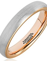 Ring Fashion / Vintage Wedding / Party / Daily / Casual Jewelry Tungsten Steel Couple Rings / Band Rings 1pc,11 / 12 / 13 Gray / Rose Gold