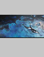 Large Hand-Painted Modern Abstract Landscape Oil Painting On Canvas One Panel With Frame Ready to Hang 60x130cm