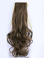 Borwn Length 50CM Factory Direct Sale Bind Type Curl Horsetail Hair Ponytail(Color 12/24)