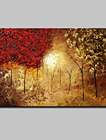 Large Hand-Painted Landscape Trees Oil Painting On Canvas Wall Art Picture One Panel With Frame Ready To Hang 90x140cm