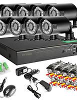 8CH 960H Network DVR  8PCS 1000TVL IR Outdoor CCTV Security Camera System