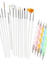 1Set Include 20pcs Nail Art Beauty Pen Brush Painting Tools Nail Styling Tools NAO25+NAO20