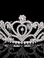 Women's Rhinestone Headpiece-Wedding / Special Occasion Tiaras 1 Piece