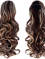 Synthetic 20 Inch 150g Long Curly Clip In Micro Ring Ponytail Hairpiece Extensions Excellent Quality