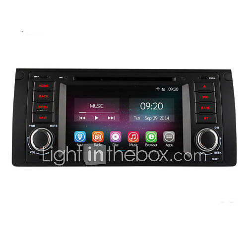 7 Inch 1 Din In Dash Car DVD Player For BMW E39 E59 5 Series With
